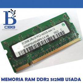 Memoria Ram DDR2 512Mb Usada